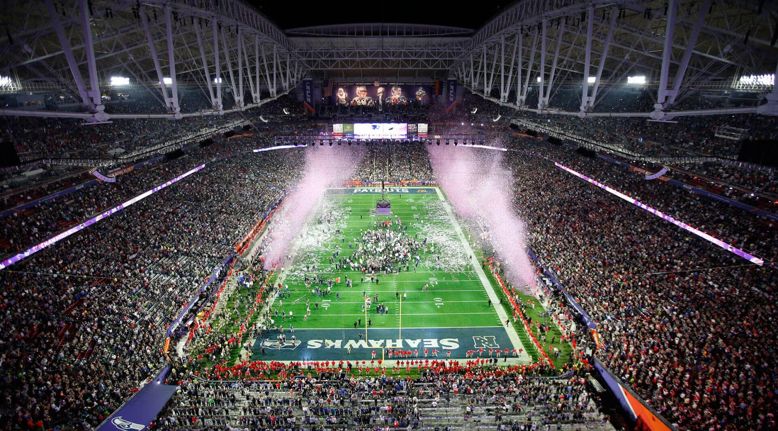 Super Bowl 2019 Field with Huge Crowd